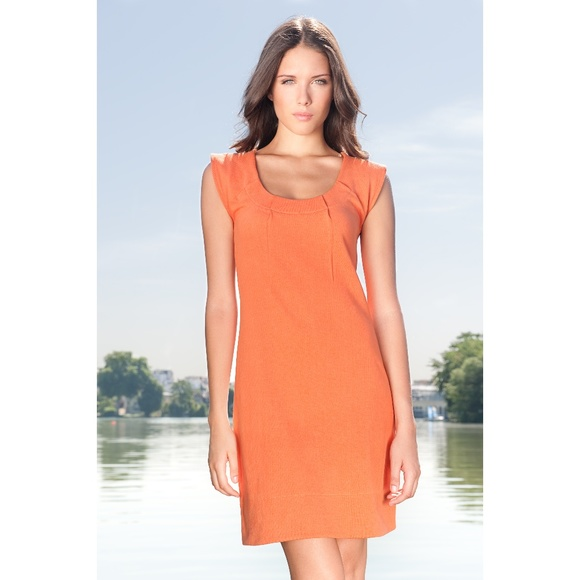 b99b06db18f Ethos Paris Sirene Organic Dress in Mandarine 🍊